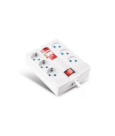 الکتریک پارت الکتریک محافظ 6خانه دیجیتالی با کابل 3متری